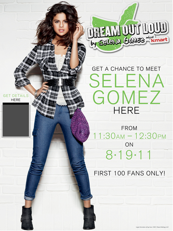When does Selena Gomez's clothing line go on sale?